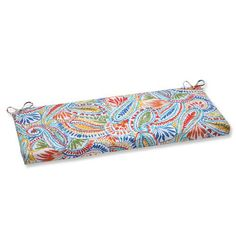 Revive your outdoor bench seating with the multicolored Pillow Perfect Ummi Outdoor Bench Cushion . Weather-resistant with a paisley pattern, this. Outdoor Loveseat, Outdoor Dining Chair Cushions, Outdoor Furniture, Paisley Color, Paisley Pattern, Bench Swing, Buy Pillows, Lounge Cushions, Perfect Pillow