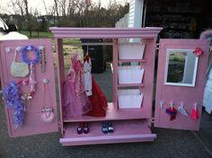 Dress Up Wardrobe Accessories And Mirror DIY Girls