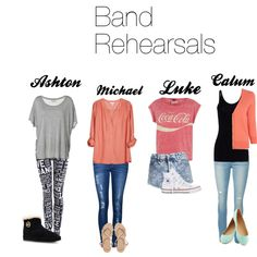 5SOS Preference, love the outfits of ashton and luke, michael is what i would wear to go to school but ashton and luke are the cutest