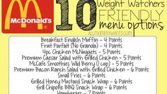 10 Weight Watchers Friendly McDonald's Fast Food Items - 7 Points or Less!