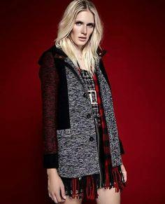 #Kosiuko #aw2015 #coat #red #black #white