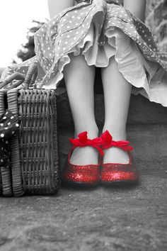 A Classic, The Wizard of Oz. Cool photo of a pair of Ruby slippers
