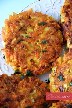 placuszki z cukinii Healthy Dinner Recipes, Appetizer Recipes, Vegan Recipes, Cooking Recipes, Cooking Time, Vegan Dishes, Food Photo, Sandwiches, Love Food