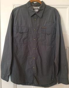 5f3684e47e1 Columbia Fishing Shirt Men s Size L Vented Long Sleeve Shirt VGC Pre-owned  Comfy