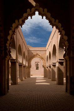 Moroccan arches.