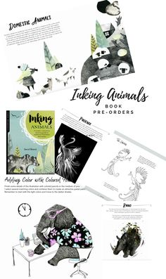 With Inking Animals, artists of all levels will discover how to use traditional inking and illustration techniques to create whimsical, expressive, and modern animal works of art. Phoenix Animal, Illustration Techniques, Spirited Art, Donkey, Guinea Pigs, Illustrators, Raven, Wilderness, Childrens Books