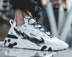 "How to Get Your Hands on this Limited Custom Nike React Element 55 ""Anarchy"" Sneaker Outfits, Sneaker Boots, Sneakers Mode, Sneakers Fashion, Shoes Sneakers, Shoes Men, Streetwear Shoes, Mode Streetwear, Tenis Casual"