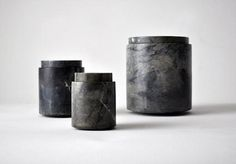 containers-vase in natural stone by Michael Verheyden.
