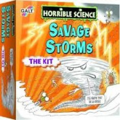 Horrible Science Savage Storms Kit lets kids make thunder clap and mae their own snow.