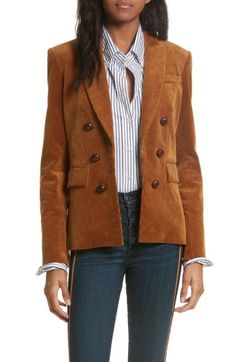 Free shipping and returns on Veronica Beard Cliff Corduroy Cutaway Jacket at Nordstrom.com. For fall 2017, Veronica Beard reimagines wardrobe favorites like this classic corduroy jacket, here offered with elbow patches, woven-leather buttons and a sharply tailored cutaway silhouette.