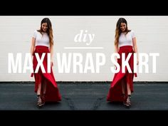 DIY Maxi Wrap Skirt video tutorial
