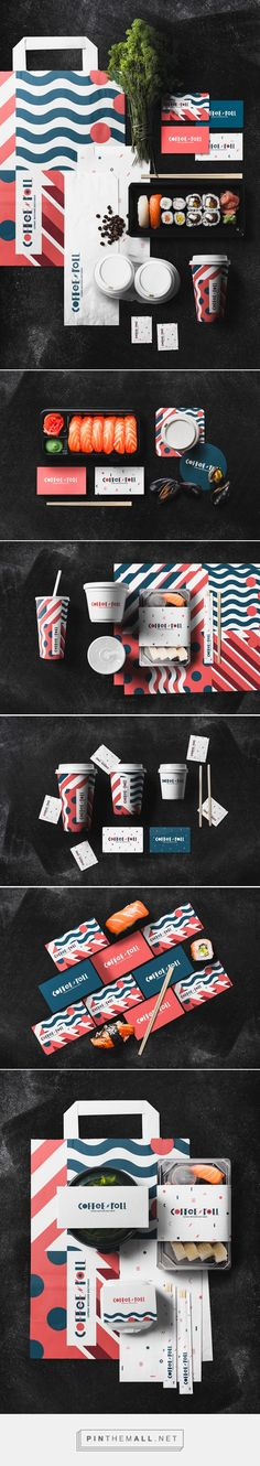 Branding and packaging for Japanese food delivery service on Behance by Dimitry…