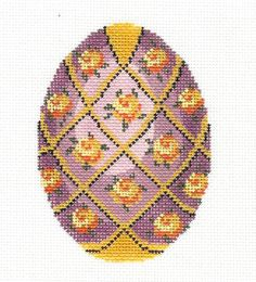 Lee Jeweled Egg Handpainted Needlepoint Canvas HP 471 | eBay