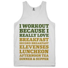 I Workout Because I Love Eating Like a Hobbit | Activate Apparel | Workout Gear & Accessories