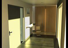 Entrée d'une villa #architecture #house #france #design #hall #entrance #mandelieu #interiordesign #colibristudio