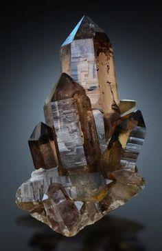 Quartz var.Smoky - Zinggenstock, Grimsel, Haslital, Berner Oberland, Switzerland Size: 13.5 x 9.4 x 9.4 cm