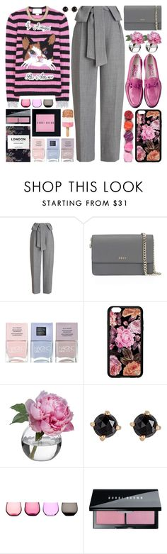 """""""cat sweater"""" by barbarela11 ❤ liked on Polyvore featuring Whistles, Gucci, DKNY, Nails Inc., Diane James, Irene Neuwirth and Bobbi Brown Cosmetics"""