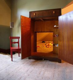 Walk through a wardrobe into an amazing hidden room.... When can this be installed?????