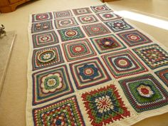 Hand Crocheted Beautiful Afghan. $990.00, via Etsy.
