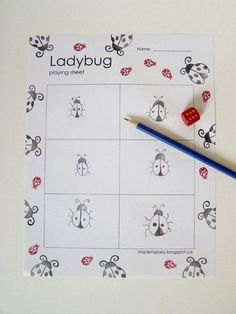 """Joey from Made by Joey is with us today to share an engaging math game for the whole family… I love ladybugs, so I created our own version of the British party game – """"Beetle"""". A game that my mother-in-law played as a child and taught to our family. Perfect to play in the backyard, at the beach or in a restaurant. It's an excellent way to start little ones counting or a fun game..."""