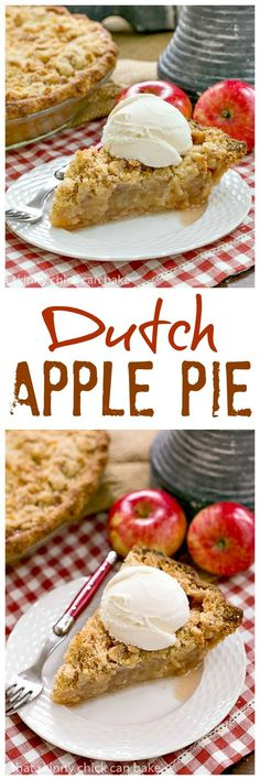 Dutch Apple Pie | Cinnamon spiced apples in a pastry shell with a streusel topping That Skinny Chick Can Bake!!!