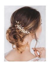 Venusvi Vintage Wedding Hair Combs with Bead and Rhinestones fo... Free Shipping