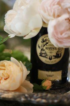 Haute Design by Sarah Klassen: Mariage Frères Tea Tin. Tea Tins, Tea Canisters, Dream Tea, Spice Garden, Rose Trees, French Kiss, Flower Tea, Flower Pictures, Wedding Beauty