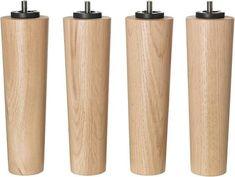 IKEA BRYNILEN, Bein (4 Stück), Ø6 cm, Eiche, Gesamthöhe: 20 cm