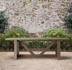 French Beam Weathered Teak Rectangular Dining Table