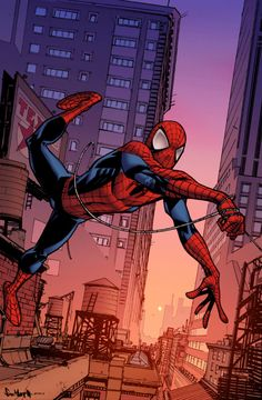 Spidey cover from awhile back by the incredibly talented Sean Gordon Murphy. Art: Sean Gordon Murphy colors: me (Joe) SpiderMan Marvel Characters, Marvel Heroes, Marvel Comics, Poster Marvel, Comic Book Pages, Comic Books, Cartoon As Anime, Cool Poses, Spiderman Art