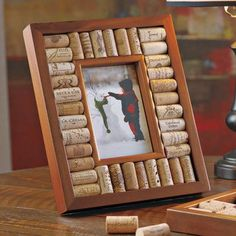Wine Enthusiast Companies Wine Cork Picture Frame Kit (Set of 2) Size:
