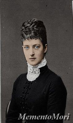 "Princess Alexandra Caroline ""Alix"" (Alexandra Caroline Marie Charlotte Louise Julia) (1844-1925) Denmark.  Wife of Albert Edward (King Edward VII) (1841-1910) Prince of Wales, UK. 2nd Child of King Christian IX (1818-1906) Denmark & Princess Louise (1817-1898) Hesse-Kassel, Germany."