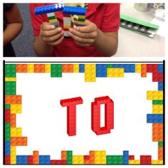 Lego build it sight words! Templates that can be used in centers for students to build 3-d sight words using Legos for Dolce Pre-Primer words.