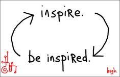 Take a leap of faith and be inspire so you may inspire others.
