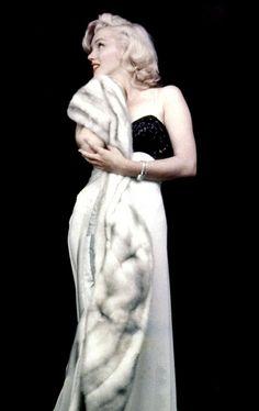 Marilyn. Evening dress sitting. Photo by Milton Greene, 1953.