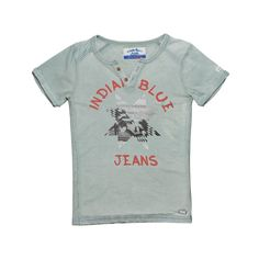 Boys | T-shirt SS Grandad | IBB15-3611 | 635 Old Green | Indian Blue Jeans