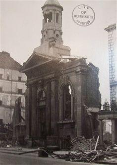 Photo:Damage to the Guildhouse, Belgrave Road, April 1941 London History, The Blitz, War Photography, Roads, Weapon, Ww2, Big Ben, Britain, England