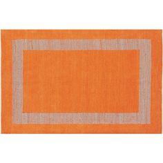 double text orange rug 6'x9' - $249 (less 15% is $211.65)