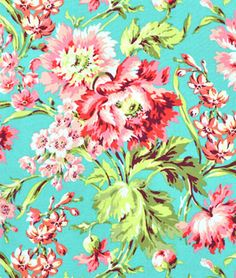 Amy Butler Bliss Bouquet Teal Fabric this is the coolest website ever! Turquoise Fabric, Pink Fabric, Floral Fabric, Floral Prints, Baby Fabric, Green Fabric, Flower Power, Amy Butler Fabric, Receiving Blankets