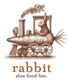 Rabbit Restaurant Logo Illustrated by Steven Noble on Behance