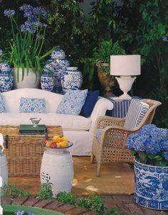 Mary McDonald House Beautiful | Blue and White