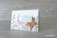 Karte Du bist fabelhaft Stampin´ Up! Minzmakrone Kork Projektset Deine Welt handmade card Mint macaron