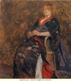 Henri de Toulouse-Lautrec. Mme Lili Grenier. 1888. Oil on canvas. 55.3 x 45.7 cm. The Museum of Modern Arts, New York, NY, USA