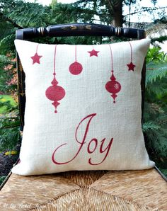 diy cottage style christmas pillows - Google Search