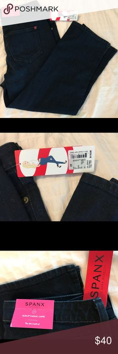 Spanx Slim X Casual Capri Jeans size 27 New Spanx dark blue slim-x casual Capri pants. Size 27. All tags attached. Smoke free home. SPANX Jeans Ankle & Cropped