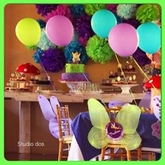 Cute idea to have the wings on the chairs and balloons too