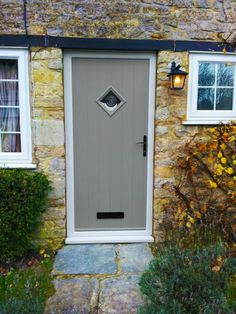 Diamond Glazed Cottage style Composite Door in Vintage Chartwell ...