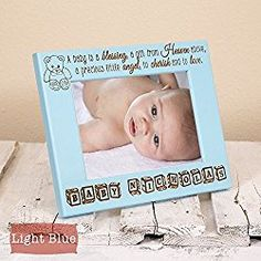 Religious birth announcement frame personalized with baby name baby blessing frame personalized with baby name religious baby frame negle Image collections