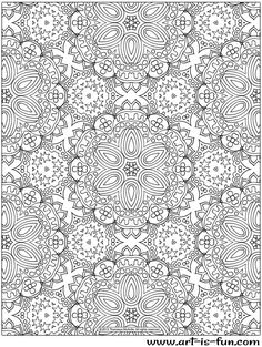 Free Abstract Pattern Coloring Page by Thaneeya McArdle