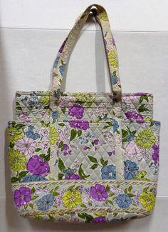 Vera Bradley Watercolor Large Shoulder Bag Tote Purse 0f999ed2cc0f6